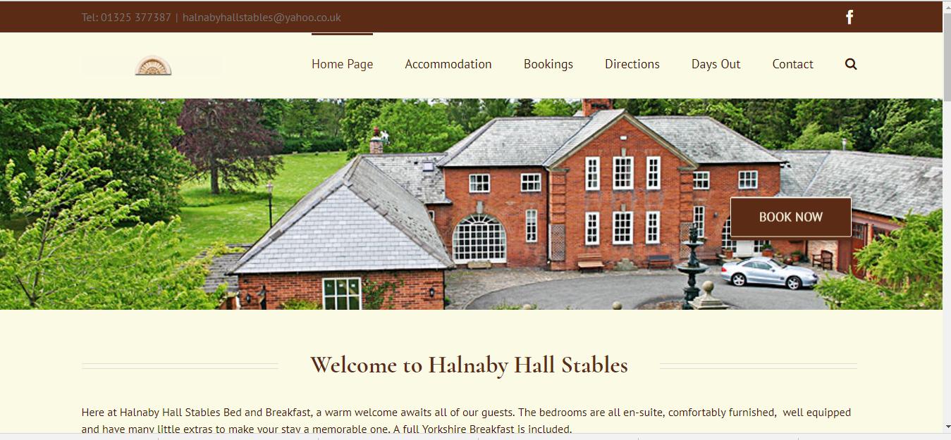 website update - Halnaby Hall Stables