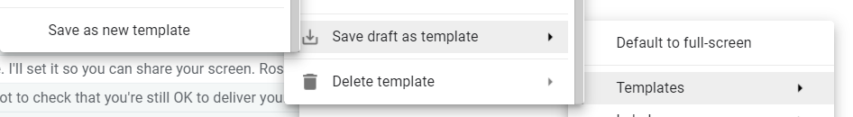 set up a template in Gmail
